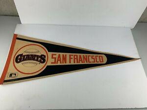 RARE WITH ERROR Vintage MLB Baseball San Francisco Giants Felt Orange, Pennant