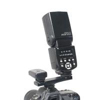 Dual Hot Shoe Flash Speedlite Bracket Splitter For Nikon DSLR Camera