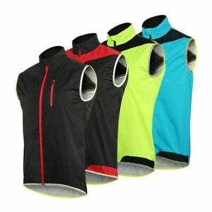 Men Women Cycling Vest Windproof Waterproof Running Bicycle Reflective Clothing