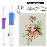 Hot Embroidery Needle Punch Set Pen Tool Magic DIY Craft Stitching Sewing Crafts