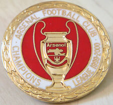 ARSENAL FC Vintage 1999-2000 Champions League Badge Brooch pin In gilt 35mm Dia