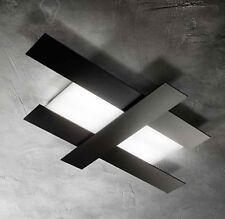 lampada lampadario soffitto nera design moderno led bagno soggiorno camera