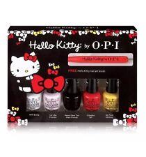 New! Opi ~Hello Kitty~ Mini Nail Polish Lacquer Set 5 Colors + 1 Nail Art Tool!