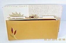 VINTAGE LADY BUXTON FRENCH CLUTCH BEIGE COLOR LEATHER PURSE (NEW IN BOX)