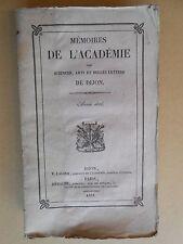 Mémoires de l'Académie de Dijon 1837  Poissons du département de la Cote d'Or