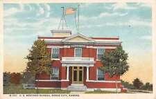 Dodge City Kansas Weather Bureau Exterior Street View Antique Postcard K13375