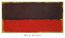 ABSTRACT ART PRINT - No. 13, 1951 by Mark Rothko 22x38 Brown Red Yellow Poster