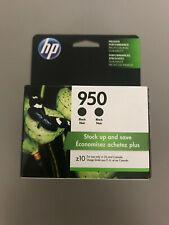 HP 950 2-Pack Black Ink Cartridges - NEW & GENUINE IN RETAIL PACKAGING