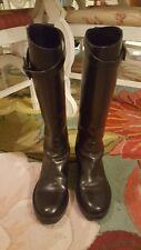 womens Ann Demeulemeester black leathe boots 38