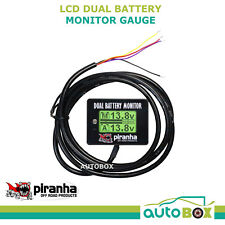 Piranha LCD Digital Dual Battery System Monitor 12 Volt Twin Display 4WD Gauge