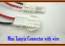 Mini.Tamiya 22AWG 2-Pin Male & Female Connector with wire Length 150mm x 2 PAIR