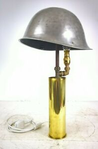 TRENCH ART LAMP  TURTLE HELMET TABLE LAMP