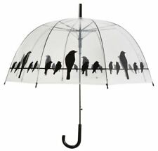 Birds on a Wire Transparent Dome Umbrella, automatic opening- FREE P&P