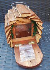 Wooden Garden Wildlife Hanging Squirrel Feeder Box