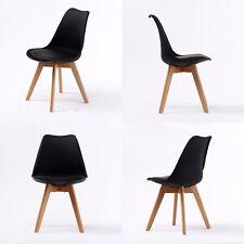 2/4x Replica Eames Eiffel DSW Dining Chair Beech Wooden Fabric Kitchen Hot