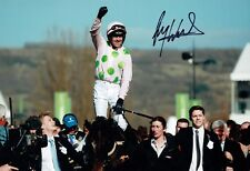 Ruby WALSH SIGNED Horse Racing 12x8 Photo 1 AFTAL COA Autograph Champion Jockey