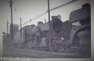 Victorian Railways Steam C1 & R755 Behind North Melbourne Loco Depot 1960