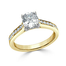 Yellow Gold Wedding Rings Size 5 1.50Ct Cushion Her Diamond Engagement Ring 14K
