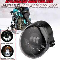 Schwarz LED Scheinwerfer Für Harley V-rod VROD Muscle Street VRSCA 2002-2017