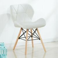 White Cecilia Eiffel Dining Chair Faux Leather Pentagone Living Room Padded Seat