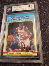 1988-89 Fleer Sticker Inserts #7 Michael Jordan Graded VG Ex+ Harsh Grade