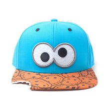 SESAME STREET Cookie Monster Eyes with Cookie Bite Snapback Baseball Cap Blue