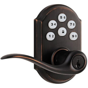 Kwikset Smartcode - Zigbee Automated Lever Lock (Bronze) (912TNL)