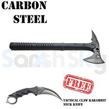 Carbon Steel Tactical Tomahawk Survival Outdoor Axe with Free CSGO Krambit Knife