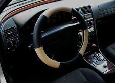 Lenkrad Bezug echtes Leder beige-schwarz für Lenkräder von 37 - 39cm Durchmesser