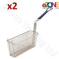 2 Frying Basket for Takeaway Restaurant Chip Fish Fryer Heavy Duty 340x110x150mm