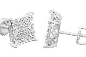 .32 CARAT WHITE GOLD FINISH MENS WOMENS 9mm 100% REAL DIAMONDS EARRINGS STUDS