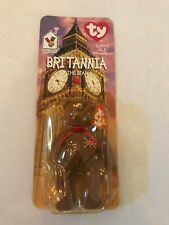 *NEW in BOX* RARE 1994 Retired Britain Bear Ty Beanie Baby