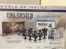Final Fantasy XII The Zodiac Age Collector's Edition PS4 Mini Bust Set Steelbook