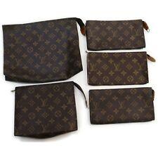 Louis Vuitton Monogram Cosmetic Pouch Accessories Pouch 5 pieces set 516907