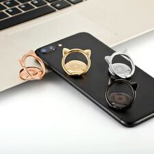 Universal 360 Rotating Cute Cat Finger Ring Stand Mobile Phone Holder Grip Mount