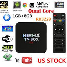 4K Android 6.0 Smart TV BOX Quad Core Latest17.1 8GB HD 1080P WIFI Media Player