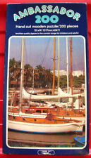 Vintage Condor Ambassador YACHTING CLUB 200 pc WOODEN Jigsaw Puzzle Sailing Boat