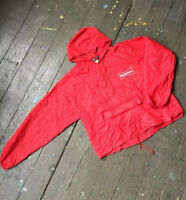 Vintage Rare Budweiser Beer Red Lightweight Windbreaker Jacket size men's XL