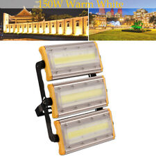 150W COB LED Flood Light Outdoor Garden Warm White Security Lamp Fixtures IP66