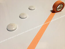 Japanese Washi Tape 15mmx10m Plain Neon Light Tan Solid Colour #W1758