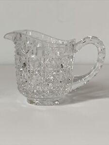 Vintage Crystal Clear Cut Glass Creamer