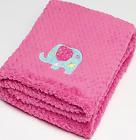 Baby Girls Pink Elephant Fleece Pram Snuggle Blanket Wrap