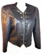 Leather Patternless Punk Coats & Jackets for Women