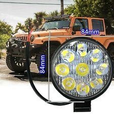 9 LED Round White 6000K 12V Truck Bumper Flood Work Lights IN NIS