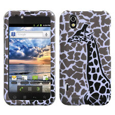 For Alltel LG Ignite HARD Protector Case Snap on Phone Cover Grey Giraffe Single