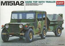 ACADEMY 1:35 MEZZO MILITARE    M151A2 HARD TOP WITH TRAILER   ART 13012