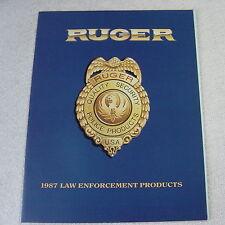 Ruger Firearms Law Enforcement 1987 Gun Catalog