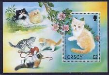 Jersey 2002 Cats min. sheet fine fresh MNH