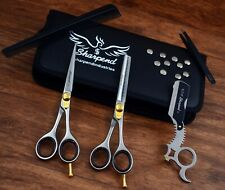 6 Inch Professional Hair Cutting Scissors Thinner Razor Set Kit Barber Salon