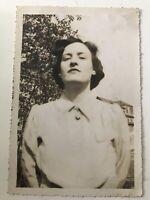 Vintage Photo Strange Stern Odd Woman 1940s D3